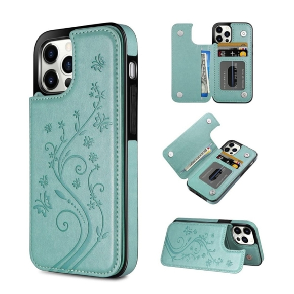 NEW iPhone 12 Pro Max Wallet Flip Case